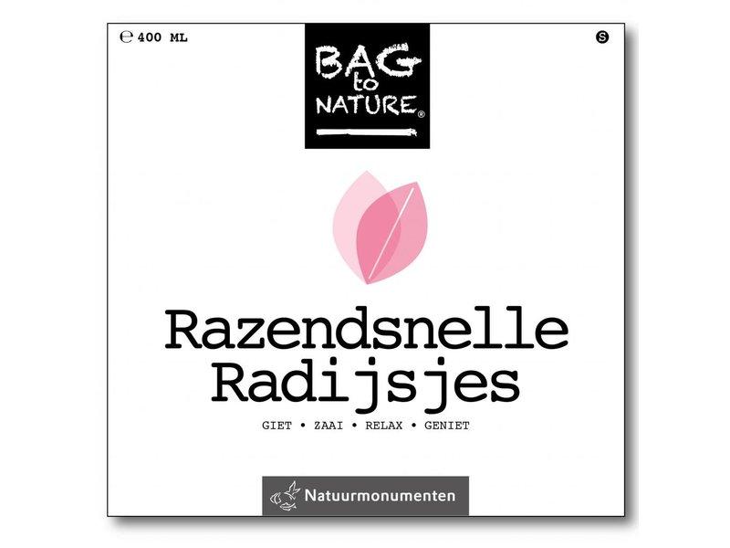 Bag-to-Nature af voksende radiser - hurtige radiser