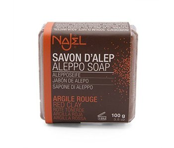 Najel red clay rode klei zeep - 100g