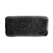 Konjac spons bamboo zwart - rechthoek