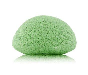 Nutrikraft Konjac spons green tea groen - halfrond