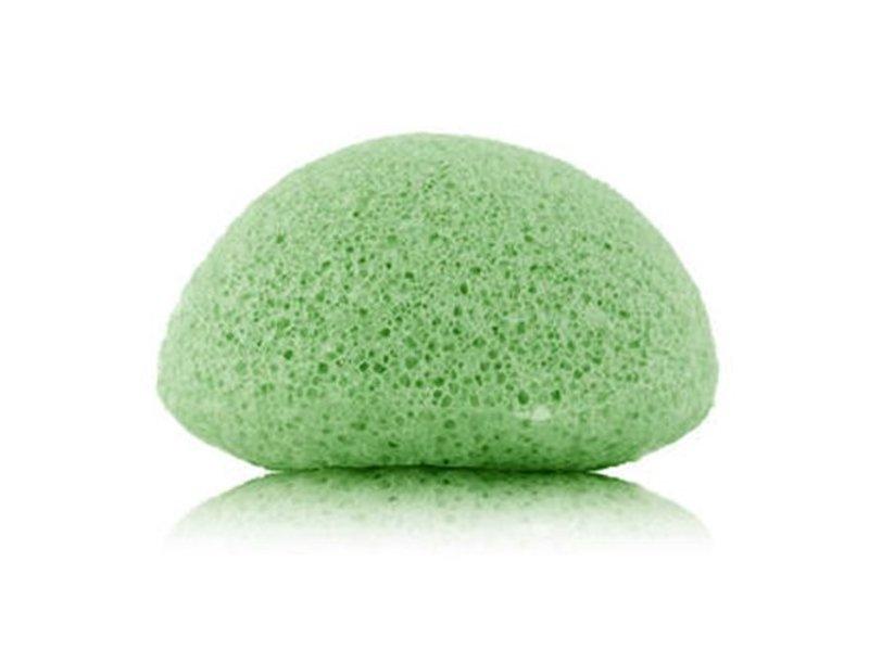 Nutrikraft Konjac-Schwamm - Grean Tea-grün - halbrund