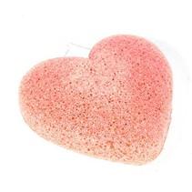 Konjac-Schwamm Tonerde - rosa-orange - herzförmig