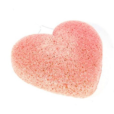 Nutrikraft Konjac-Schwamm Tonerde - rosa-orange - herzförmig