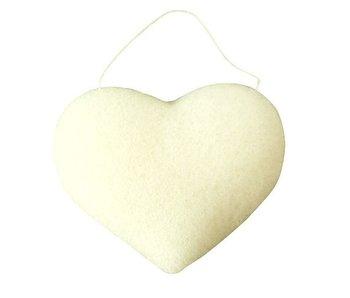Nutrikraft konjac svamp ren hvid - hjerte