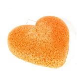 Nutrikraft Konjac-Schwamm - Kurkuma-Orange - herzförmig