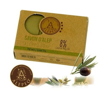 Alepeo Handzeepje  met groene thee geur - 100g