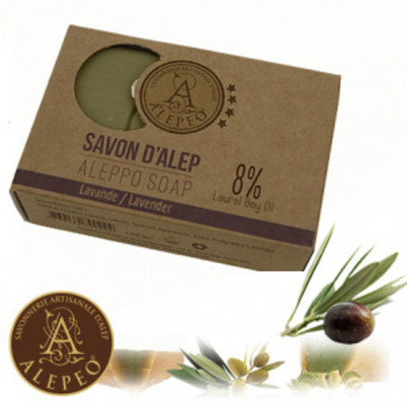 Alepeo vormzeep met lavendel - 100g