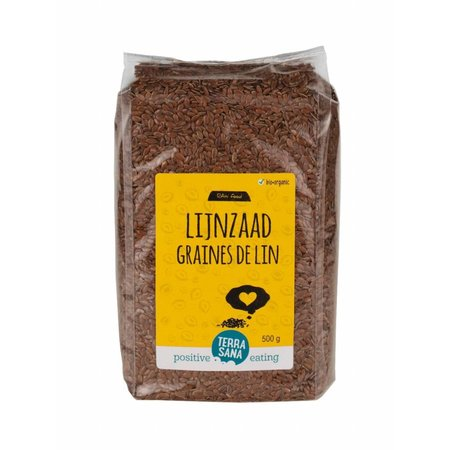 Terrasana rawfood Økologisk hørfrø hele - 500g