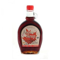 bio ahornsiroop maple syrup klasse C in glazen karaf - 500ml