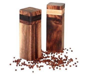 Project Pepper handgemaakte fair trade peper- of zoutmolen - hout