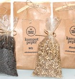 Project Pepper handgemaakte fair trade peper- of zoutmolen - hout