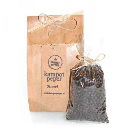 Project Pepper schwarzer  Kampot-Pfeffer fair trade - 90g