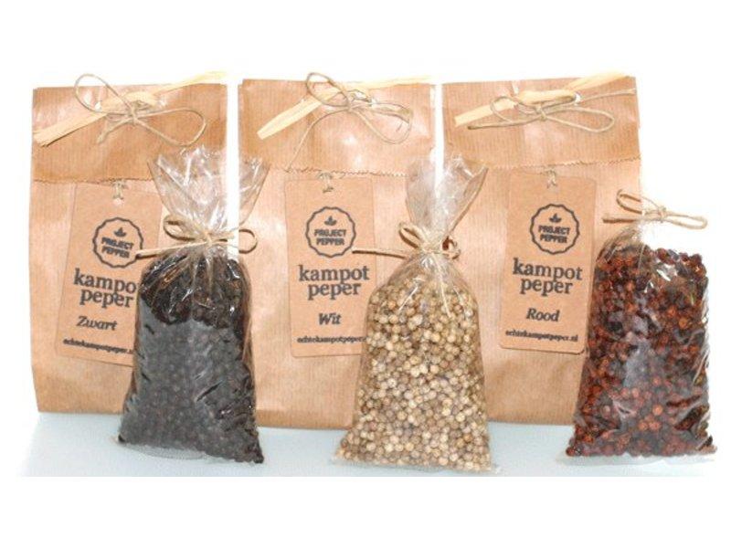 Project Pepper Weißer Kampot Pfeffer - fair trade - 90g