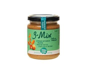 Terrasana 3er-Mix Nusspaste - ohne Erdnüsse - 250g