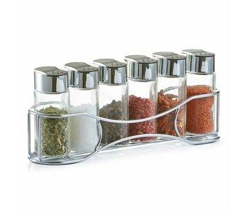 Zeller Krydderihylde med krukker