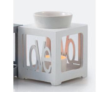Aromed Aromatherapie-Brenner LIEBES Weiß