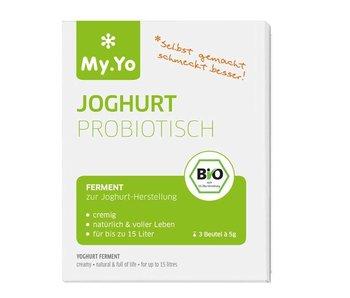 My Yo Biologische yoghurt probiotisch 3 zakjes à 5 gram