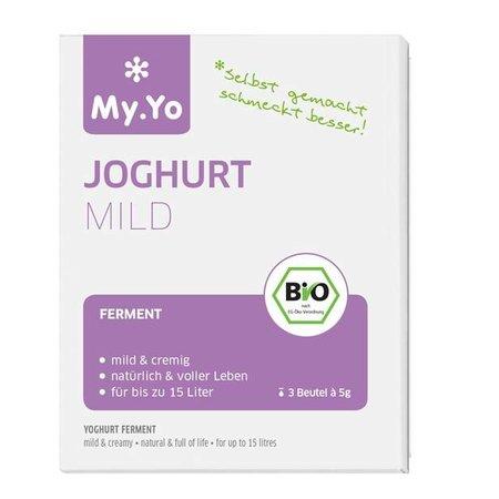 My Yo Biologische Yoghurt mild 3 zakjes à 5 gram