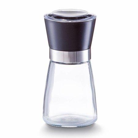 Zeller Pepermolen van glas met zwart medium