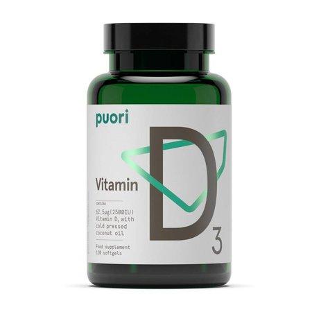 Puori Vitamin D3 - 120 Kapseln