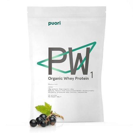 Puori PW1 økologisk protein pulver sort bær-900 gr