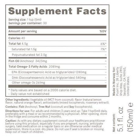 Puori Puori Omega-3 flüssig- 150 ml