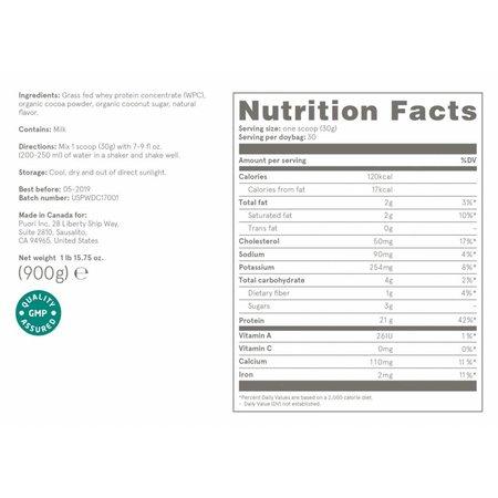 Puori PW1 organisch proteïne poeder dark chocolate