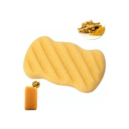 Nutrikraft Konjac spons geel - rechthoek geribbeld