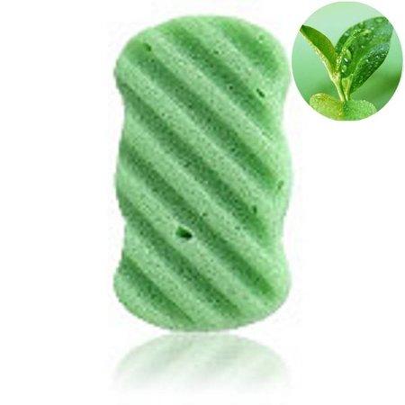 Nutrikraft Konjac svamp grøn - rektangel ribbed