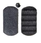 Nutrikraft Konjac spons zwart - rechthoek geribbeld