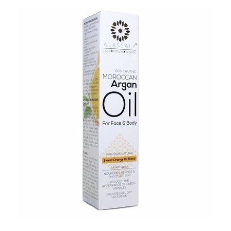 Alassala Argan Olie til ansigt og krop Sød Orange 15 ml
