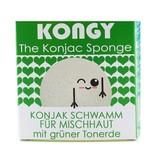 Kongy 100% natürlicher Konjac-Schwamm - grüne Tonerde