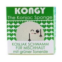 100% natuurlijke konjac spons - groene klei