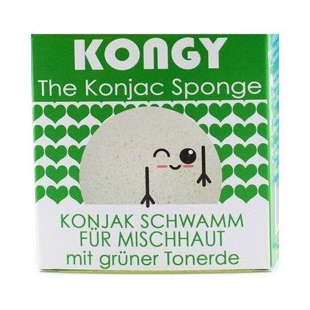 Kongy 100% naturlige konjac svamp - grøn ler