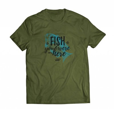 T- Shirt Fish you were here in grün