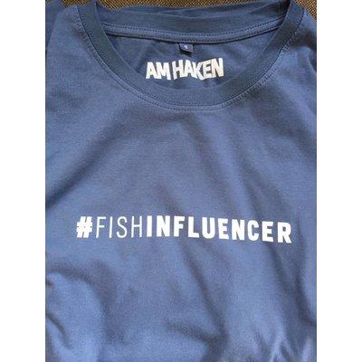 #Fishinfluencer T- Shirt Aboprämie blau inkl. Jahresabonnement