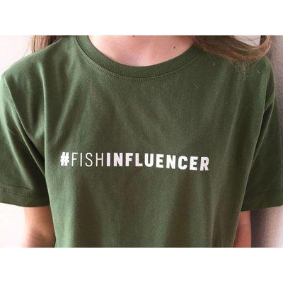 #Fishinfluencer T Shirt in grün