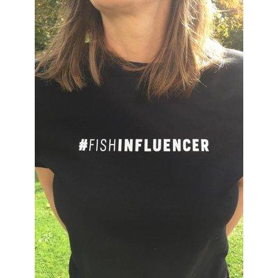 #Fishinfluencer T Shirt in schwarz