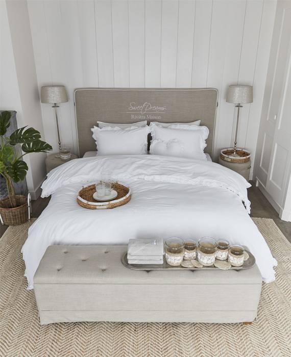 rivi ra maison dekbedovertrek romance white. Black Bedroom Furniture Sets. Home Design Ideas