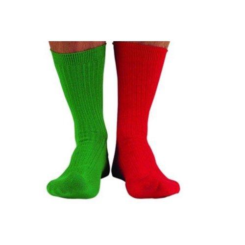 Flyer gifts sokken rood-groen