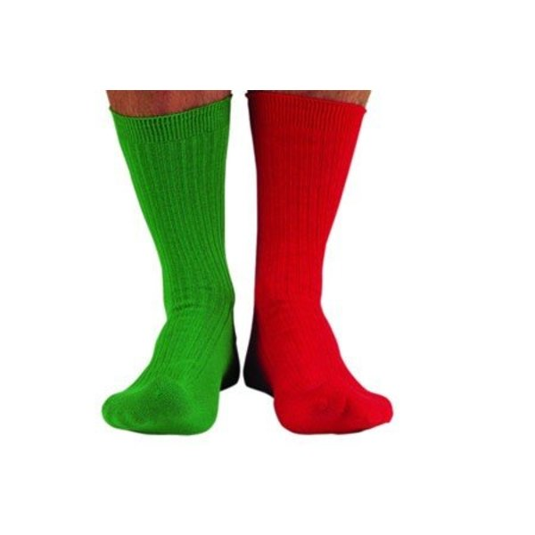 sokken rood-groen
