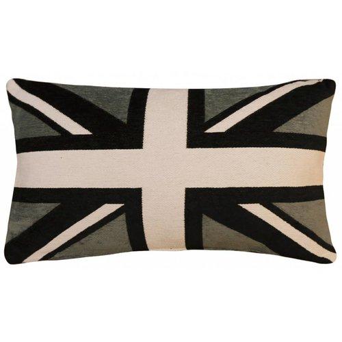 FS Home bootkussen Engelse vlag grijs-zwart