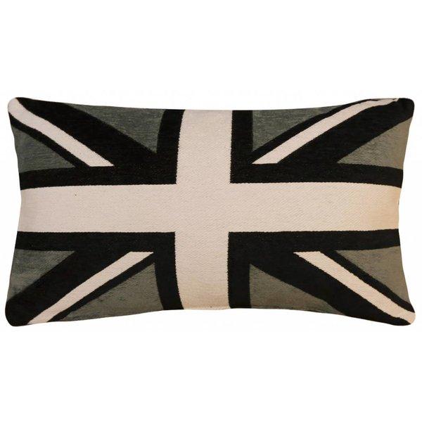 bootkussen Engelse vlag grijs-zwart