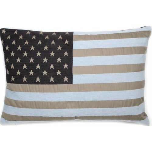 FS Home bootkussen club USA taupe-lichtblauw