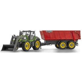 Ninco Tractor met shovel en aanhanger 1:28