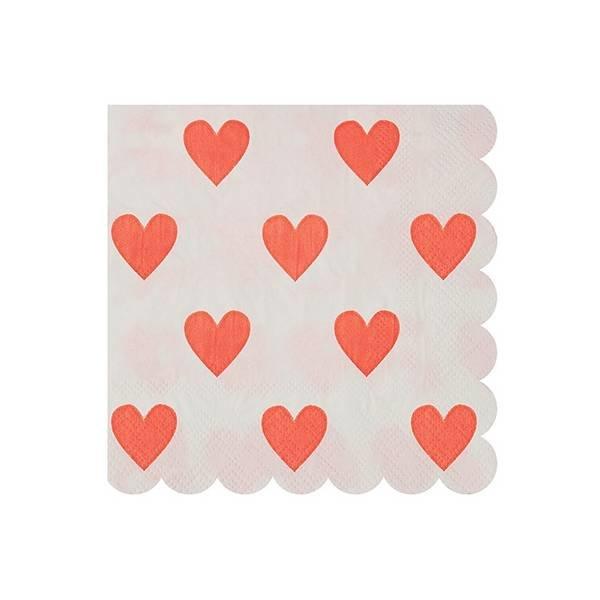 Pink hearts napkins
