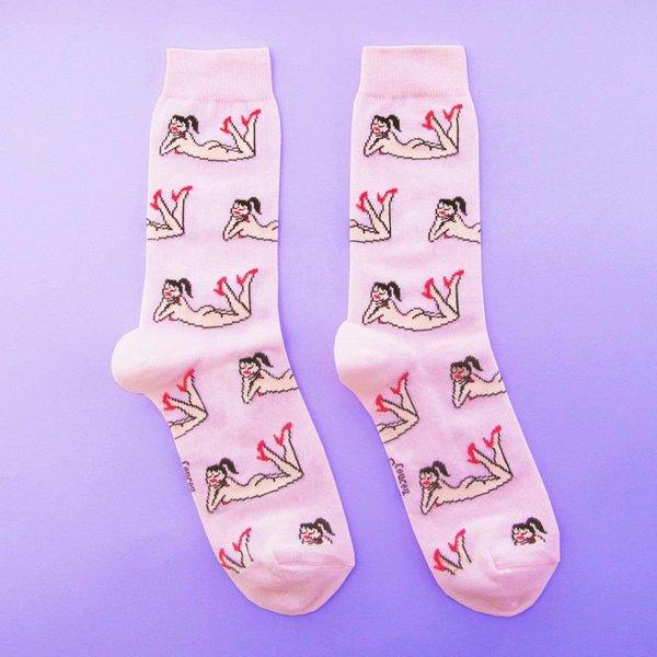 Naked Lady Socks