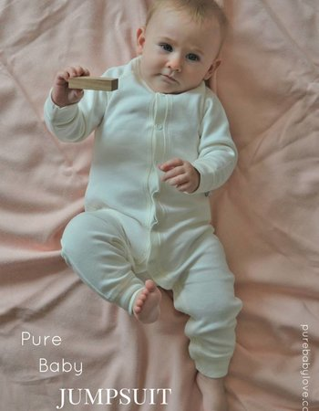 Pure Baby Love Jumpsuit Baby White