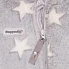 Hoppediz HOPPEDIZ Fleece Overall Grijs met Witte Sterren