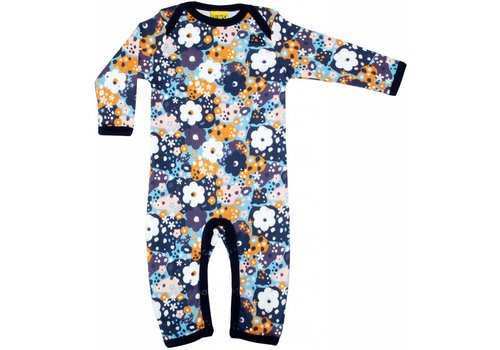 DUNS Sweden Duns Jumpsuit Flower Blue